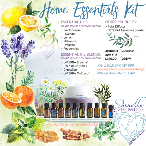 Janelle Ledwidge doTERRA Home Essentials Kit