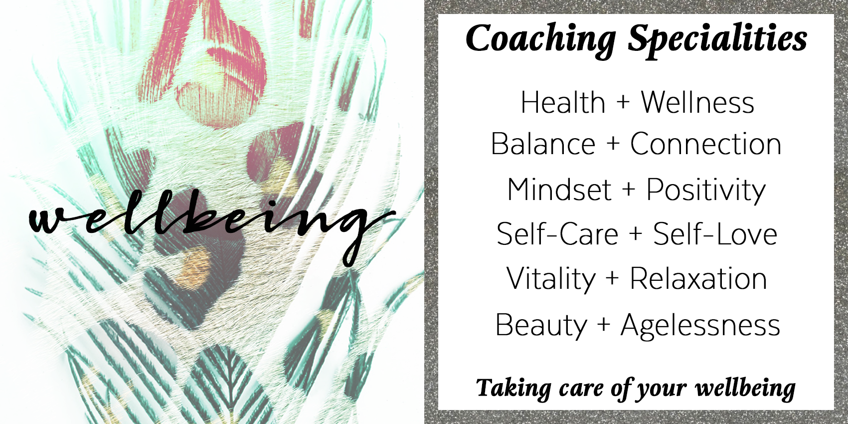Wellbeing, Health, Vitality Coaching Specialties
